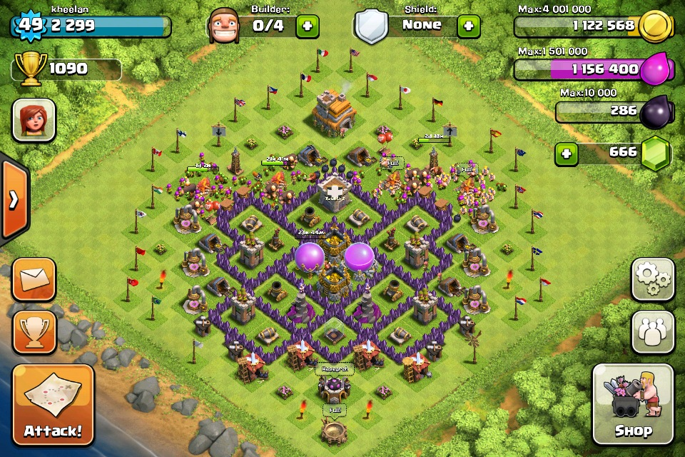 Best Defense Setup For Level 7 Town Hall Clash Of Clans Gallery