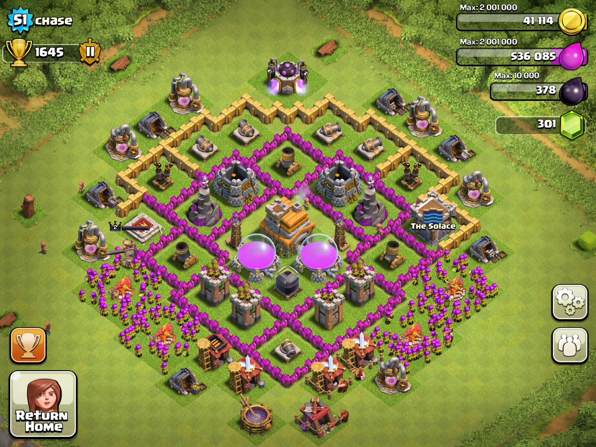 Some best town hall 8 base layout